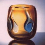 Honey Blue Drop Vase